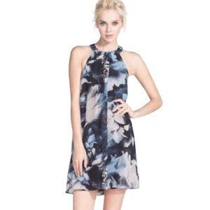 ASTR the Label High Neck Shift Dress Black Multi